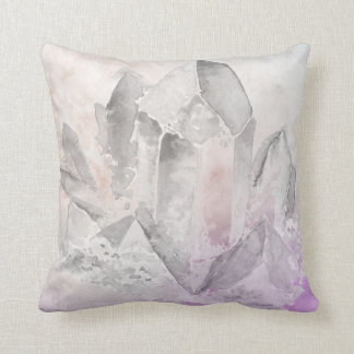 *~* Chakra Faux Amethyst Crystal Healing Energy Throw Pillow