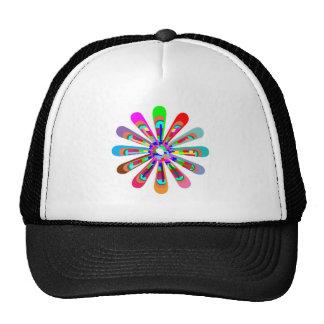 CHAKRA Flower Colorful Cutflower Goodluck Love fun Trucker Hats