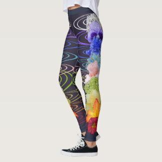 Chakra Flower Design Print Leggings