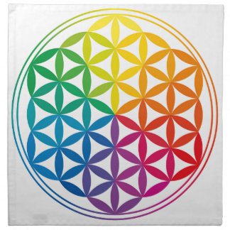 Chakra Flower Of Life Grid Cloth