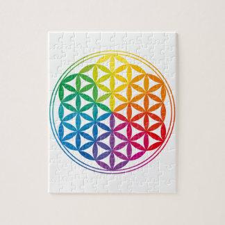 Chakra Flower Of Life Grid Jigsaw Puzzle