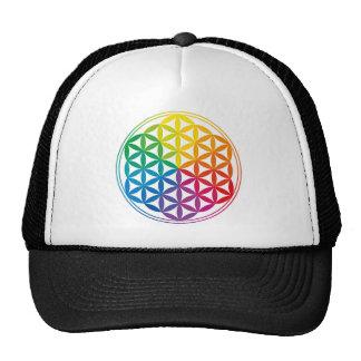 Chakra Flower of Life Grid Trucker Hat
