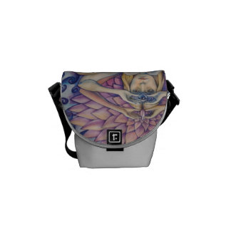 Chakra Flower Purse Messenger Bag