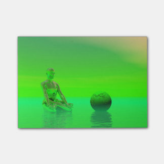 chakra green post-it® notes