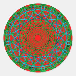 Chakra green, red, blue sticker