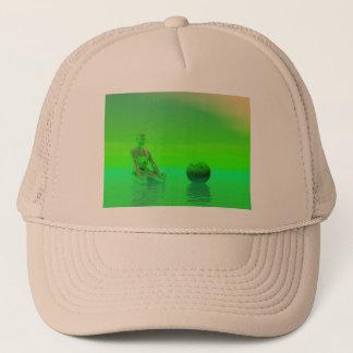 chakra green trucker hat