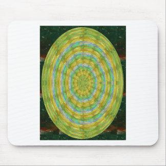 CHAKRA Green Wheel Crystal Beads Stone FUN GIFTS Mouse Pad
