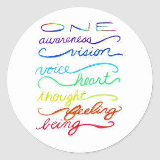 Chakra Inspirational Words Custom Sticker Decals