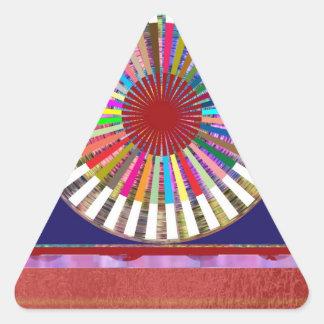 CHAKRA Light Source Meditation Triangle Sticker
