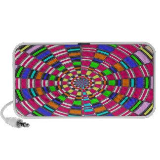 Chakra Mandala Circle Round Circular Colorful ART Laptop Speakers