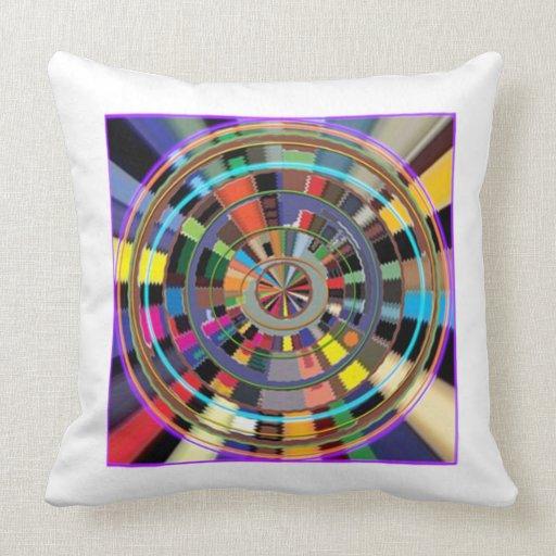 CHAKRA Mandala Wheel Graphic Colorful GIFTS Throw Pillow