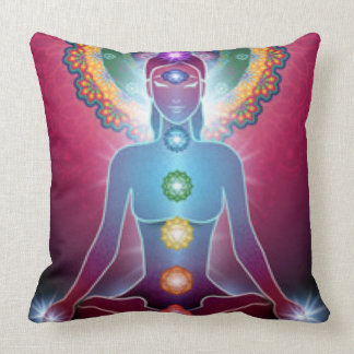 Chakra Meditation Yoga Throw Pillow