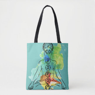 Chakra Om Namaste all over printed Tote