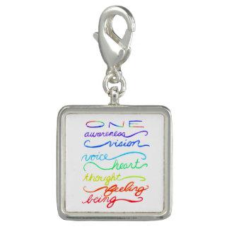 Chakra One Words Custom Art Bracelet Jewelry Charm
