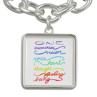 Chakra One Words Custom Art Charm Bracelet Jewelry