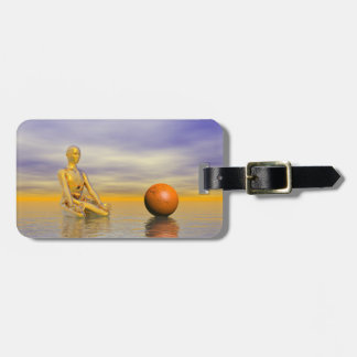 chakra orange luggage tag