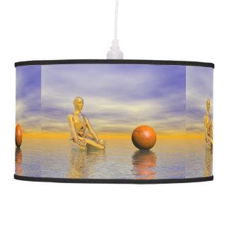 chakra orange pendant lamp
