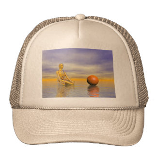 chakra orange trucker hat