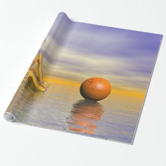 chakra orange wrapping paper