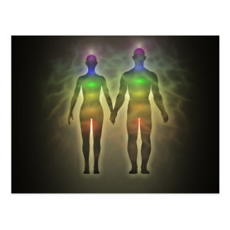 chakra par,aura,twinsouls,healinglove,energy,chi postcard