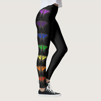 Chakra rainbow butterflies leggings