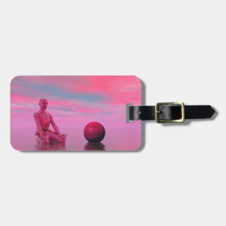 chakra red luggage tag