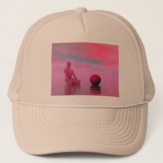 chakra red trucker hat