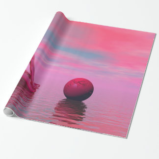 chakra red wrapping paper