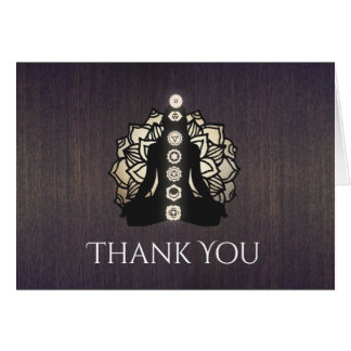 Chakra Reiki Master and Yoga Teacher Thank You Card
