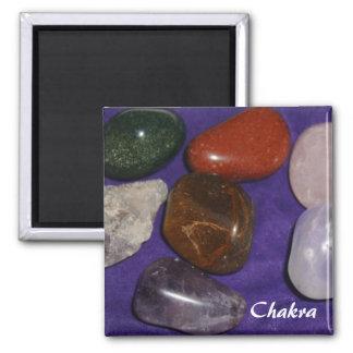 Chakra Stones Square Magnet