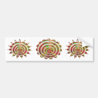 Chakra Style Sunflower Car Bumper Sticker