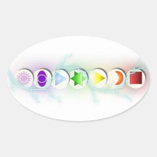 Chakra Symbols Sticker