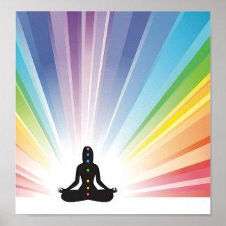 chakra system yoga yogi zen aura ohm chi energy poster