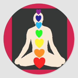 Chakra Yoga Lotus Position Gifts Round Sticker