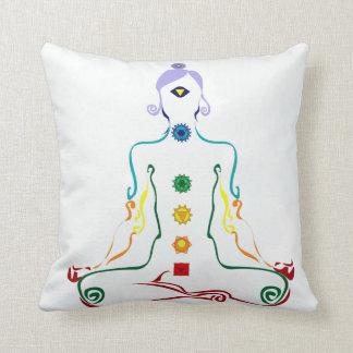 Chakra yogini throw pillow