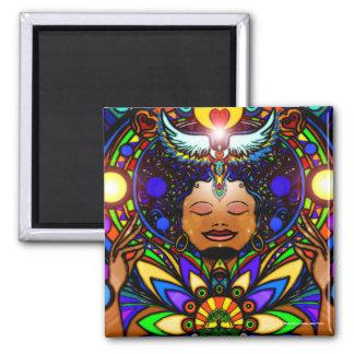 ChakraKhan (Magnet) Square Magnet