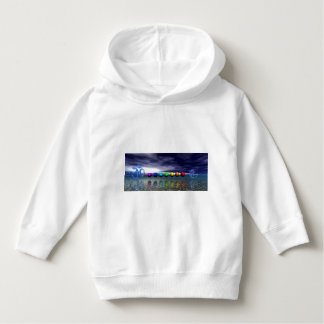 chakras and aum blue hoodie