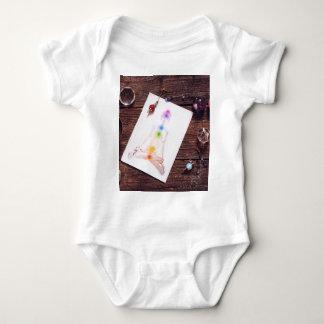 chakras and balance baby bodysuit