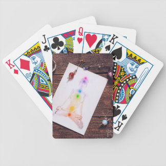 chakras and balance bicycle playing cards