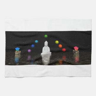 chakras and buddha towel
