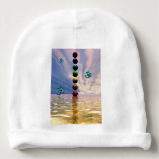 chakras and clouds baby beanie