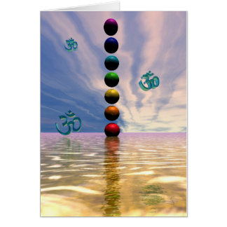 chakras and clouds card