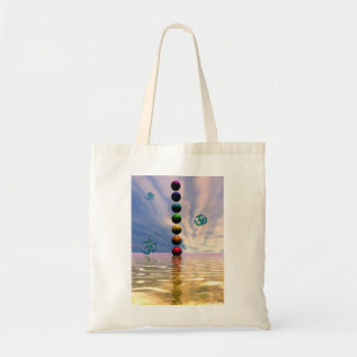 chakras and clouds tote bag