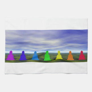 chakras and colors and sky hand towel