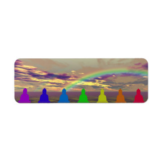 chakras and colors and sky puple yellow