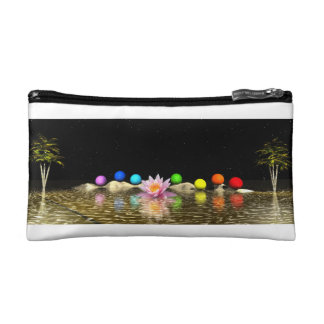 chakras and palms cosmetic bag