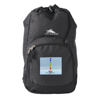 Chakras and rainbow - 3D render Backpack