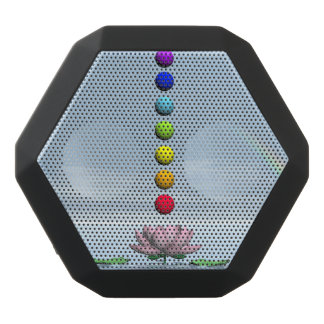 Chakras and rainbow - 3D render Black Bluetooth Speaker