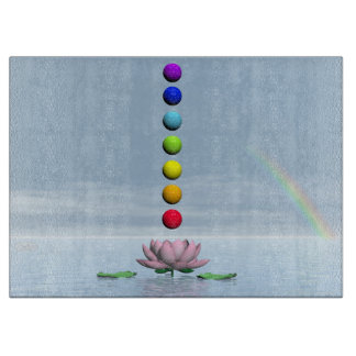 Chakras and rainbow - 3D render Boards