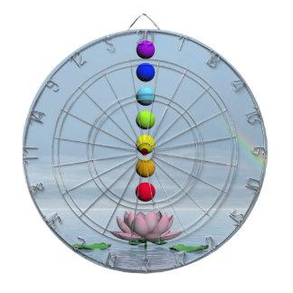 Chakras and rainbow - 3D render Dartboard
